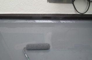 バルコニー:防水塗装二層目
