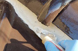 屋根:漆喰補修