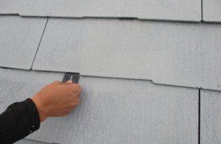 屋根:タスペーサー挿入