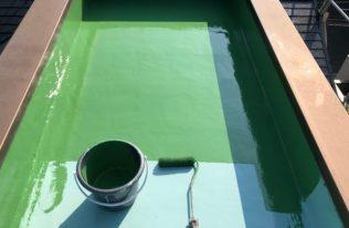 屋上防水:上塗り